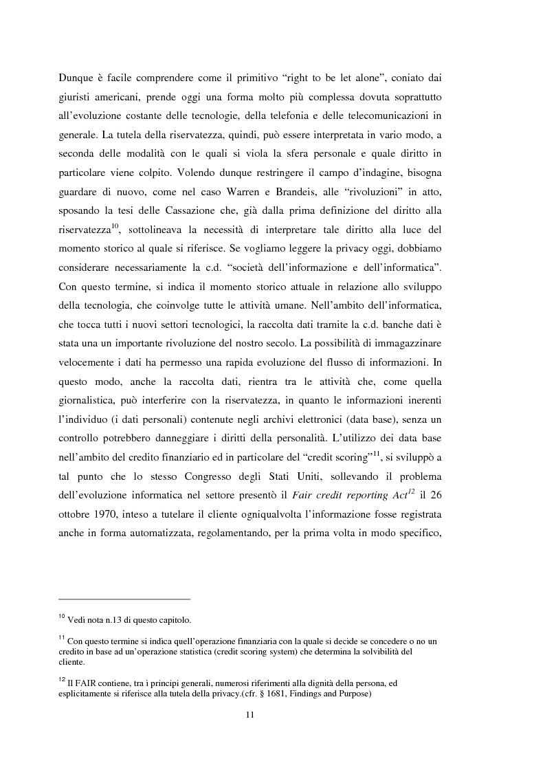 Anteprima della tesi: La tutela dei dati personali su Internet, Pagina 5