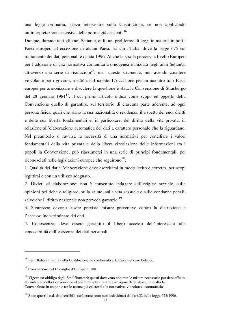 Anteprima della tesi: La tutela dei dati personali su Internet, Pagina 7