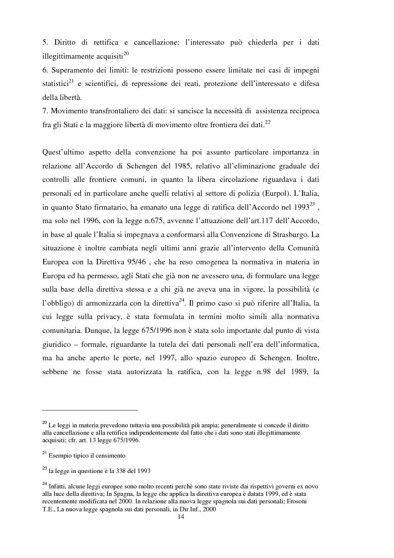 Anteprima della tesi: La tutela dei dati personali su Internet, Pagina 8