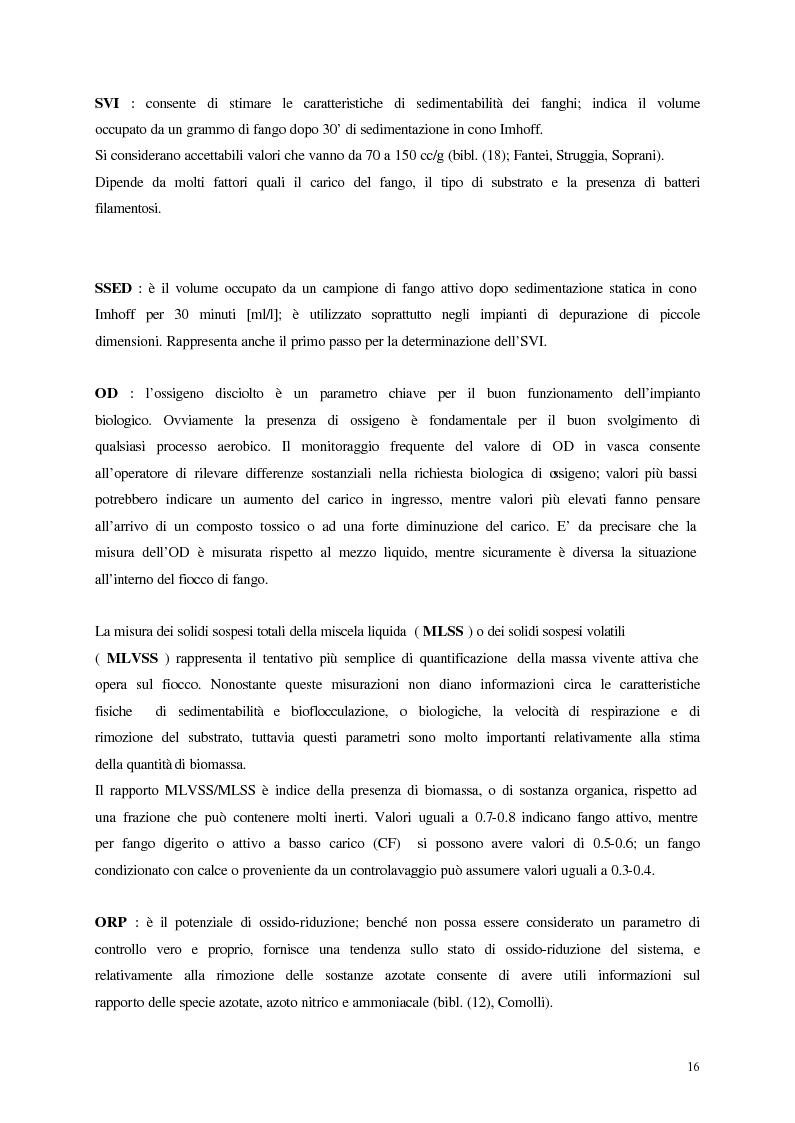 Anteprima della tesi: Analisi, aggiornamento e validazione di un sistema esperto per la gestione degli impianti di depurazione a fanghi attivi, Pagina 4