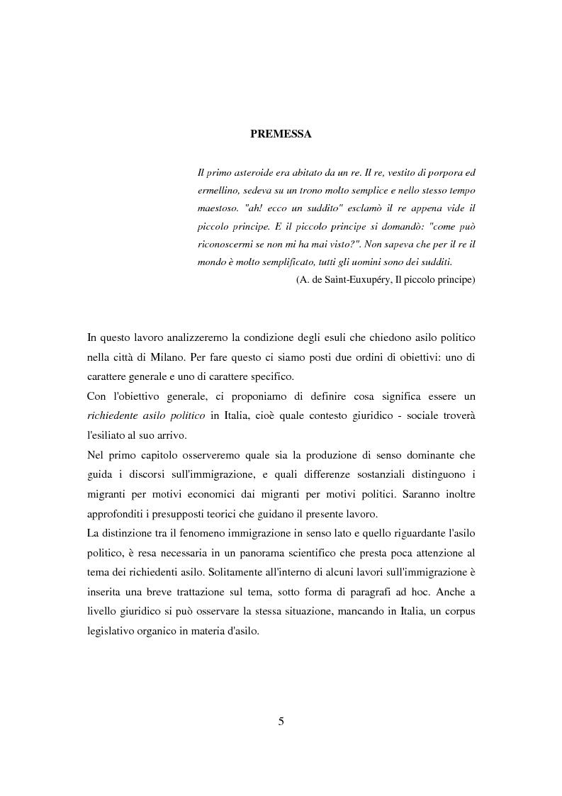 Anteprima della tesi: Il ponte spezzato. Richiedenti asilo politico a Milano tra società di arrivo e possibilità di socializzazione, Pagina 1