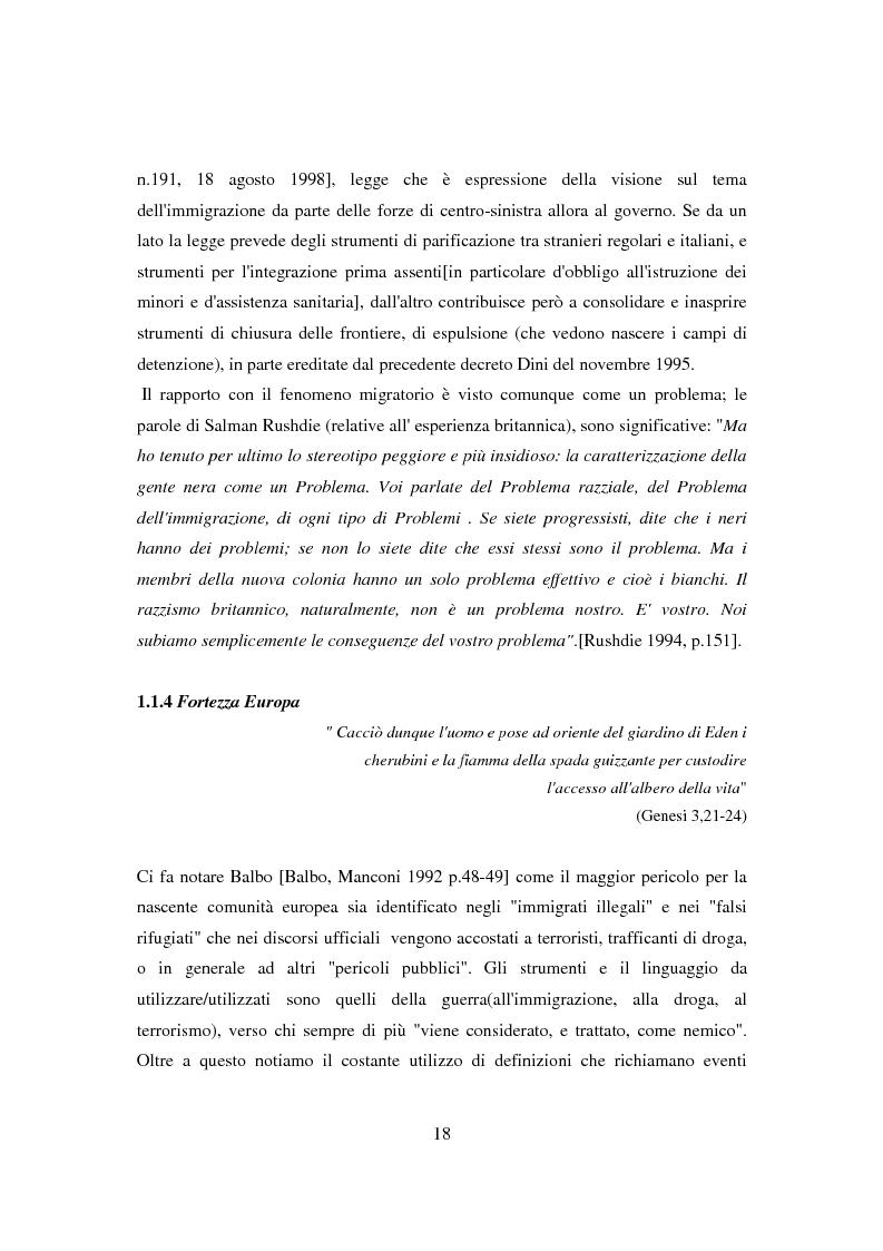 Anteprima della tesi: Il ponte spezzato. Richiedenti asilo politico a Milano tra società di arrivo e possibilità di socializzazione, Pagina 14