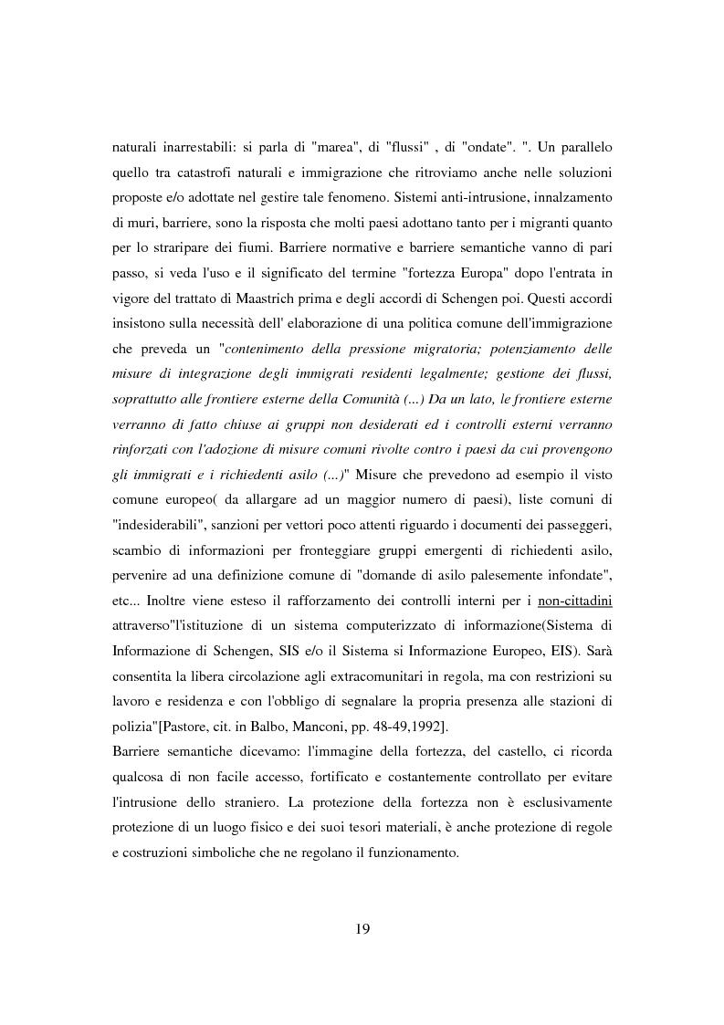 Anteprima della tesi: Il ponte spezzato. Richiedenti asilo politico a Milano tra società di arrivo e possibilità di socializzazione, Pagina 15