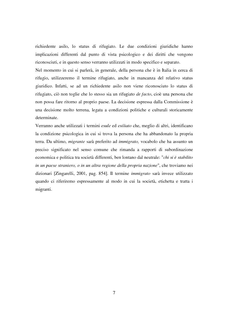 Anteprima della tesi: Il ponte spezzato. Richiedenti asilo politico a Milano tra società di arrivo e possibilità di socializzazione, Pagina 3