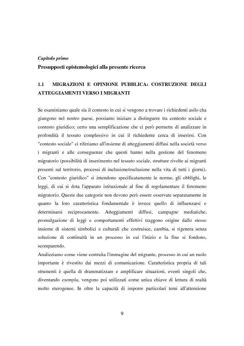 Anteprima della tesi: Il ponte spezzato. Richiedenti asilo politico a Milano tra società di arrivo e possibilità di socializzazione, Pagina 5