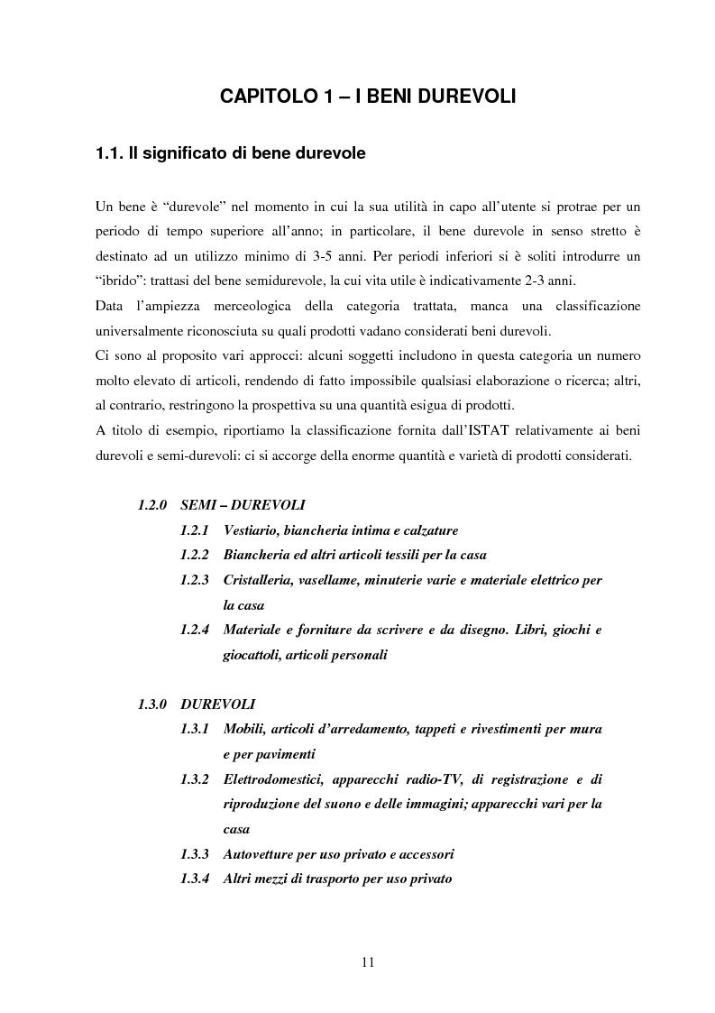 Anteprima della tesi: La gestione dei beni durevoli dismessi: creazione del sistema nazionale di raccolta, recupero e riciclaggio, Pagina 10