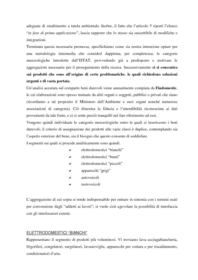 Anteprima della tesi: La gestione dei beni durevoli dismessi: creazione del sistema nazionale di raccolta, recupero e riciclaggio, Pagina 12