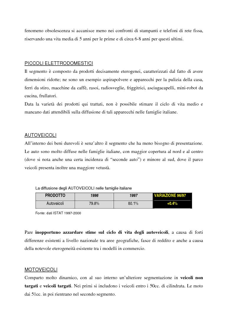 Anteprima della tesi: La gestione dei beni durevoli dismessi: creazione del sistema nazionale di raccolta, recupero e riciclaggio, Pagina 15