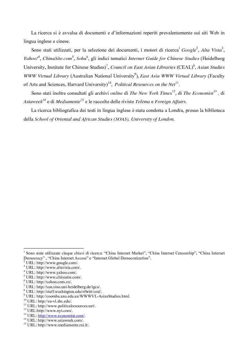 Anteprima della tesi: La Cina nell'era di Internet, Pagina 3