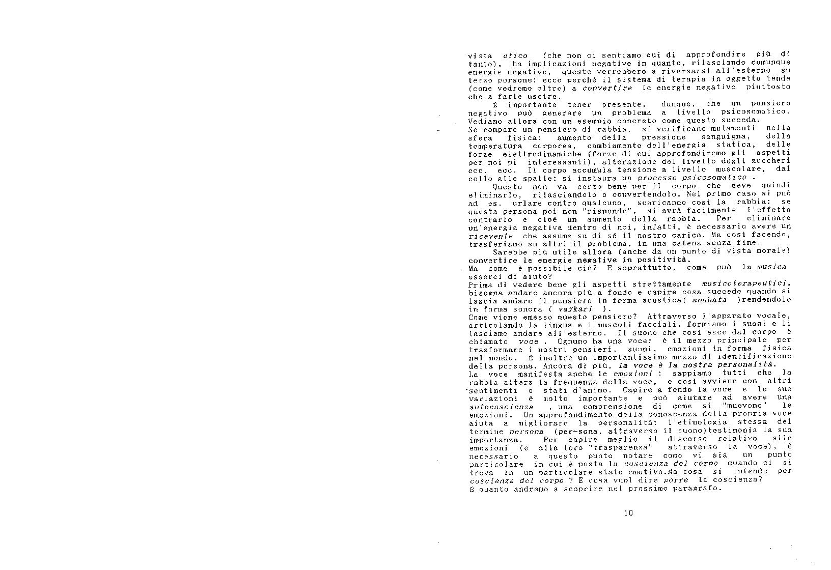 Anteprima della tesi: Le tecniche del nada-yoga nella pratica musicoterapeutica, Pagina 10