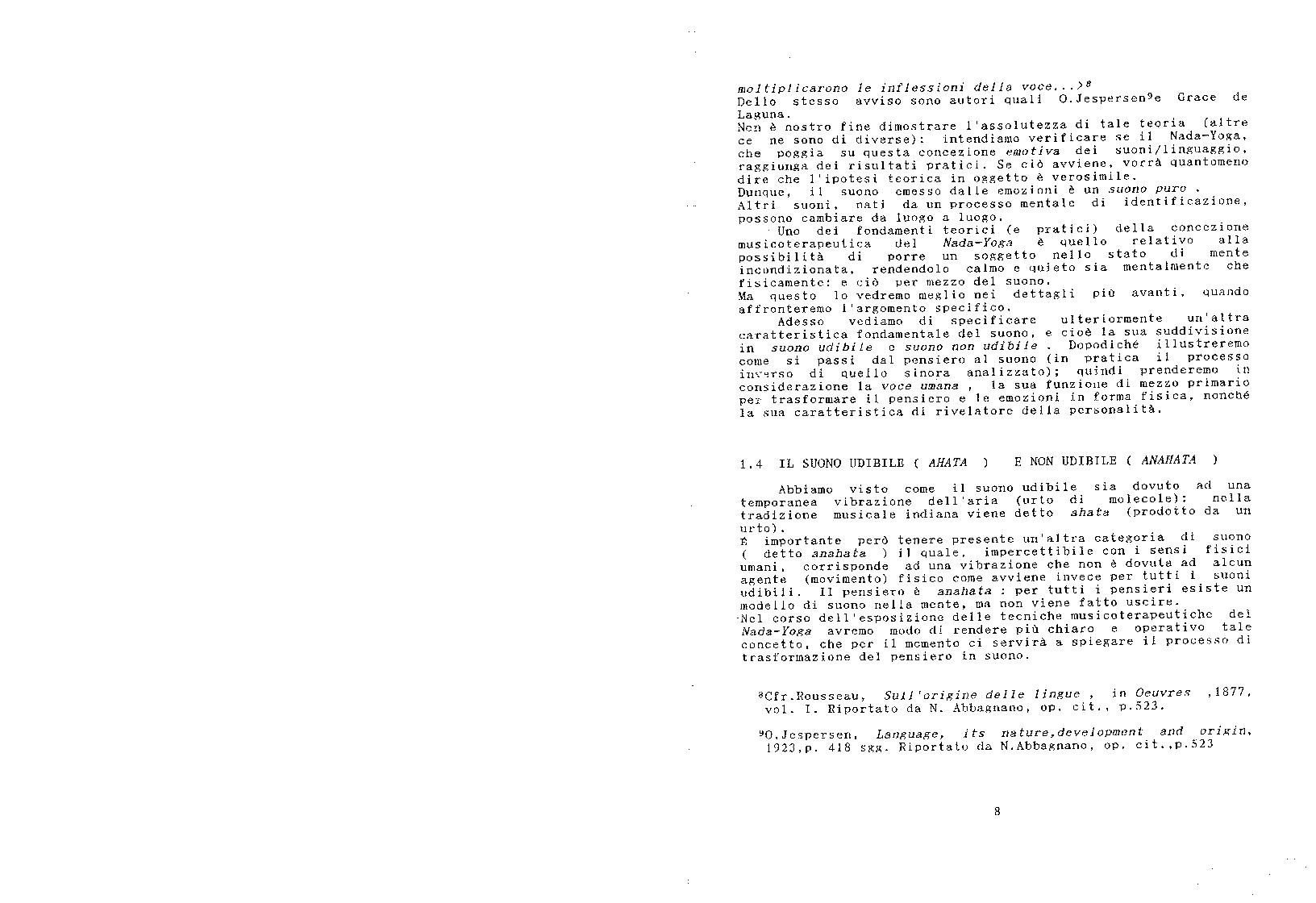 Anteprima della tesi: Le tecniche del nada-yoga nella pratica musicoterapeutica, Pagina 8