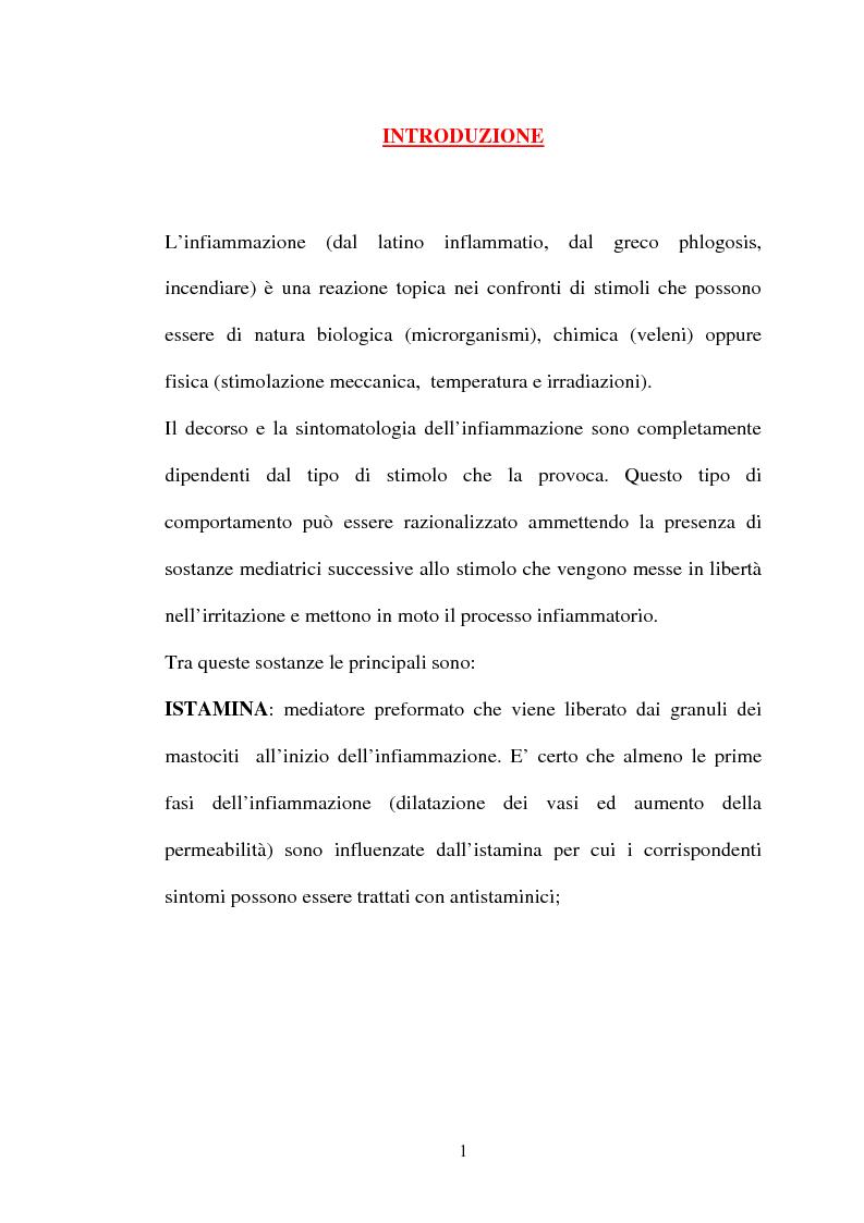 Anteprima della tesi: Aspetti farmacologici di due importanti inibitori delle COX-2: Celecoxib e Rofecoxib, Pagina 1