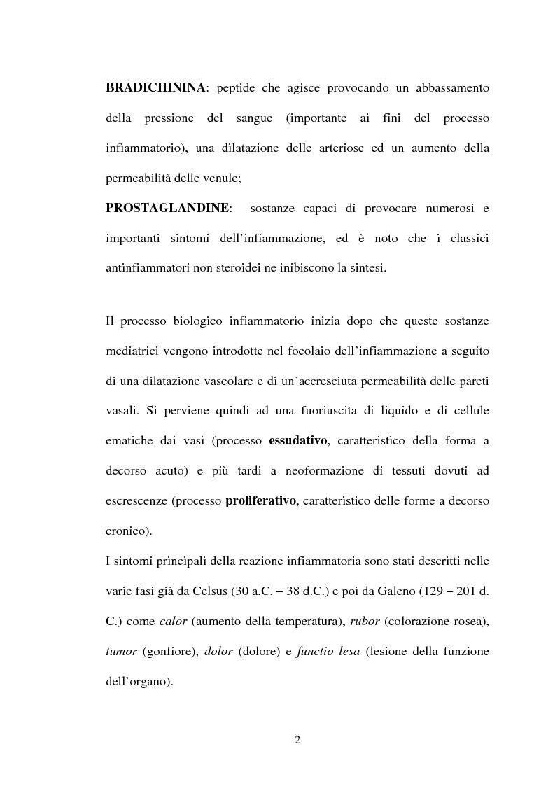 Anteprima della tesi: Aspetti farmacologici di due importanti inibitori delle COX-2: Celecoxib e Rofecoxib, Pagina 2