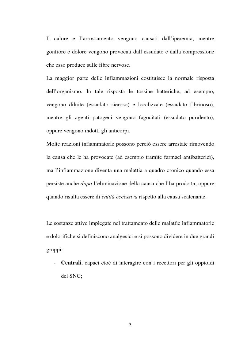 Anteprima della tesi: Aspetti farmacologici di due importanti inibitori delle COX-2: Celecoxib e Rofecoxib, Pagina 3