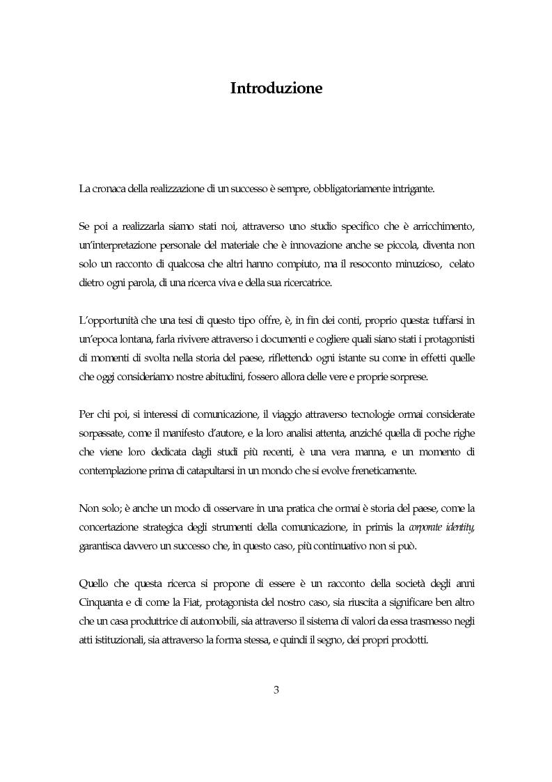 Anteprima della tesi: La società italiana e la Fiat negli anni della motorizzazione di massa, Pagina 1