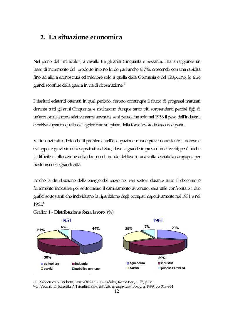 Anteprima della tesi: La società italiana e la Fiat negli anni della motorizzazione di massa, Pagina 10