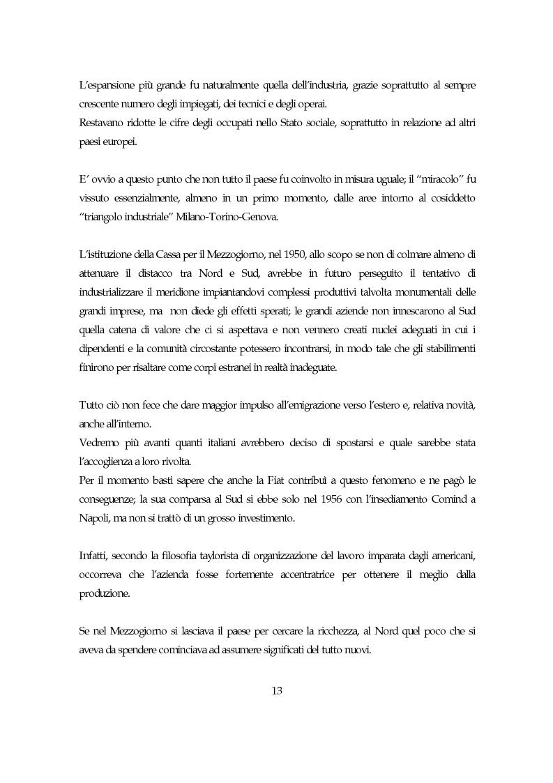 Anteprima della tesi: La società italiana e la Fiat negli anni della motorizzazione di massa, Pagina 11