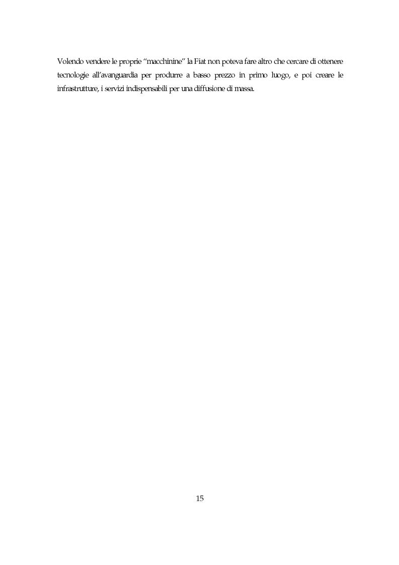 Anteprima della tesi: La società italiana e la Fiat negli anni della motorizzazione di massa, Pagina 13