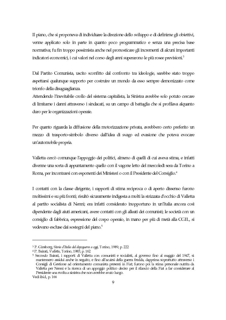 Anteprima della tesi: La società italiana e la Fiat negli anni della motorizzazione di massa, Pagina 7