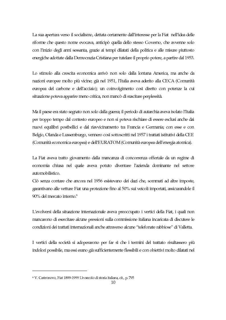 Anteprima della tesi: La società italiana e la Fiat negli anni della motorizzazione di massa, Pagina 8
