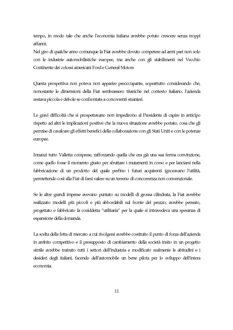 Anteprima della tesi: La società italiana e la Fiat negli anni della motorizzazione di massa, Pagina 9