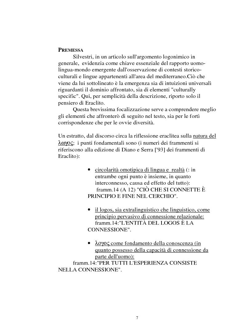 Anteprima della tesi: I logonimi nella lingua quechua, Pagina 7