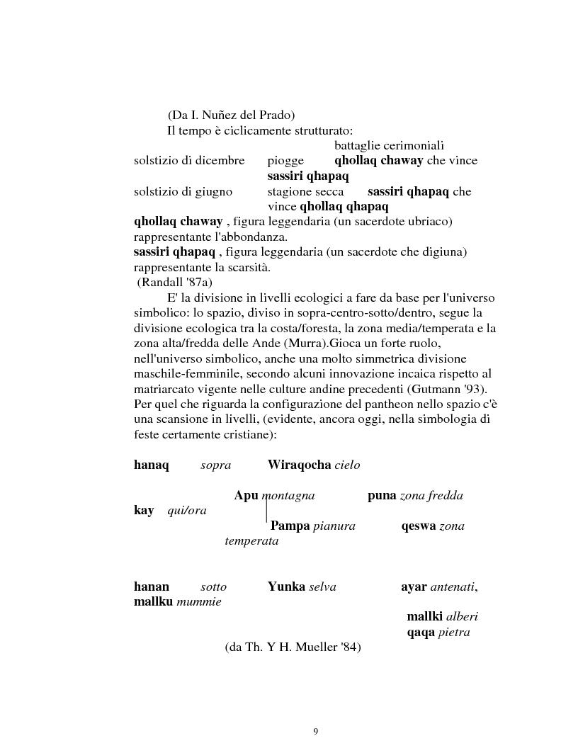 Anteprima della tesi: I logonimi nella lingua quechua, Pagina 9