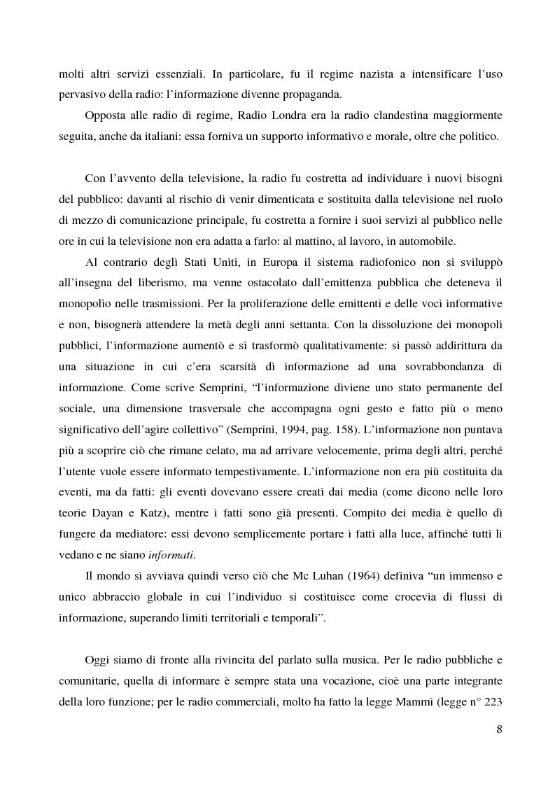 Anteprima della tesi: La radio di informazione. Il caso Radio 24, Pagina 2