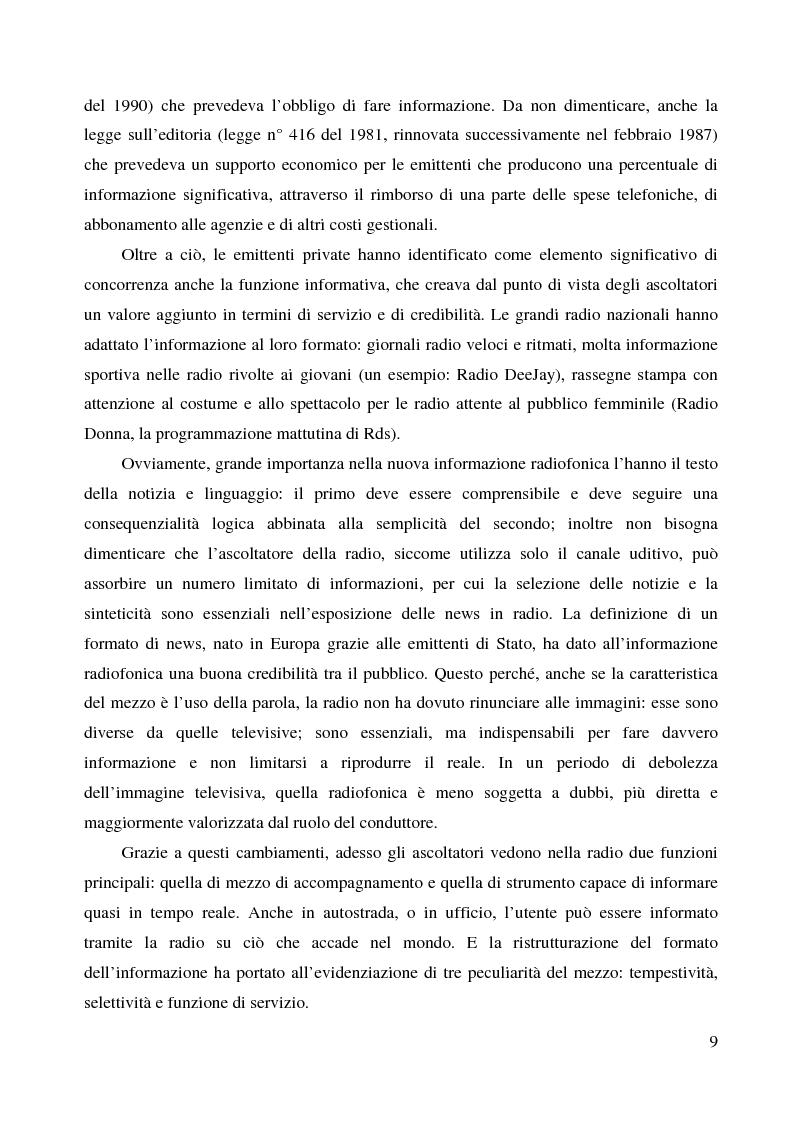 Anteprima della tesi: La radio di informazione. Il caso Radio 24, Pagina 3