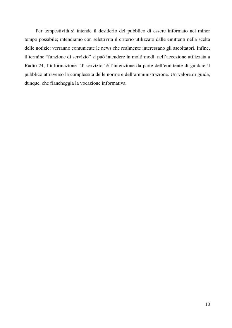Anteprima della tesi: La radio di informazione. Il caso Radio 24, Pagina 4