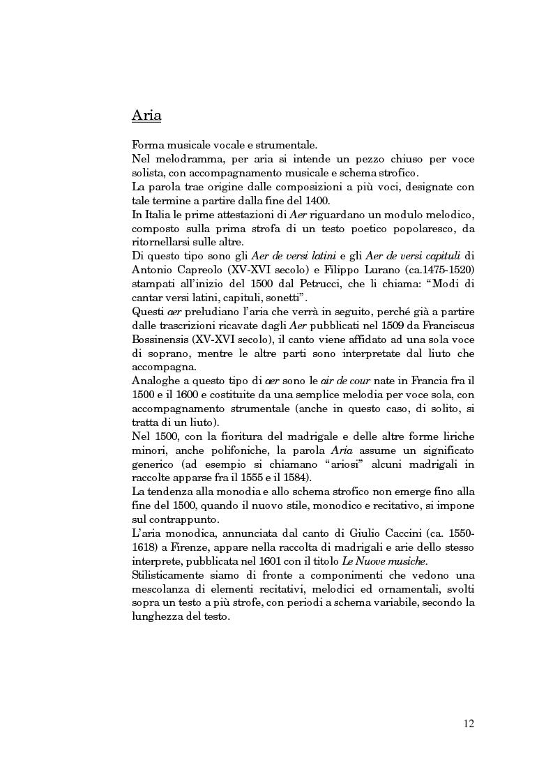 Anteprima della tesi: Lessico operistico, Pagina 1