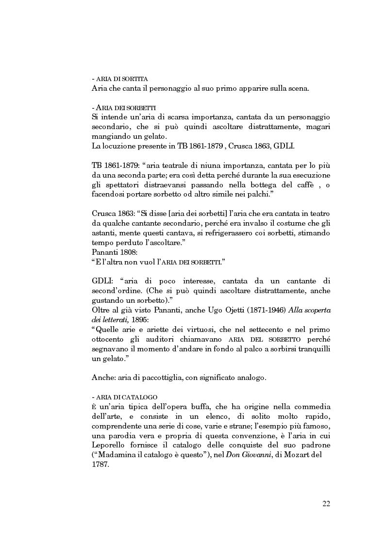 Anteprima della tesi: Lessico operistico, Pagina 11