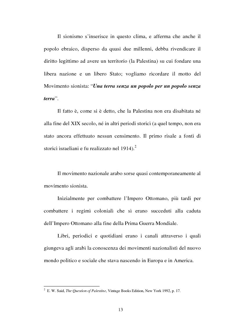 Anteprima della tesi: L'identità palestinese - La genesi di una coscienza nazionale, Pagina 15