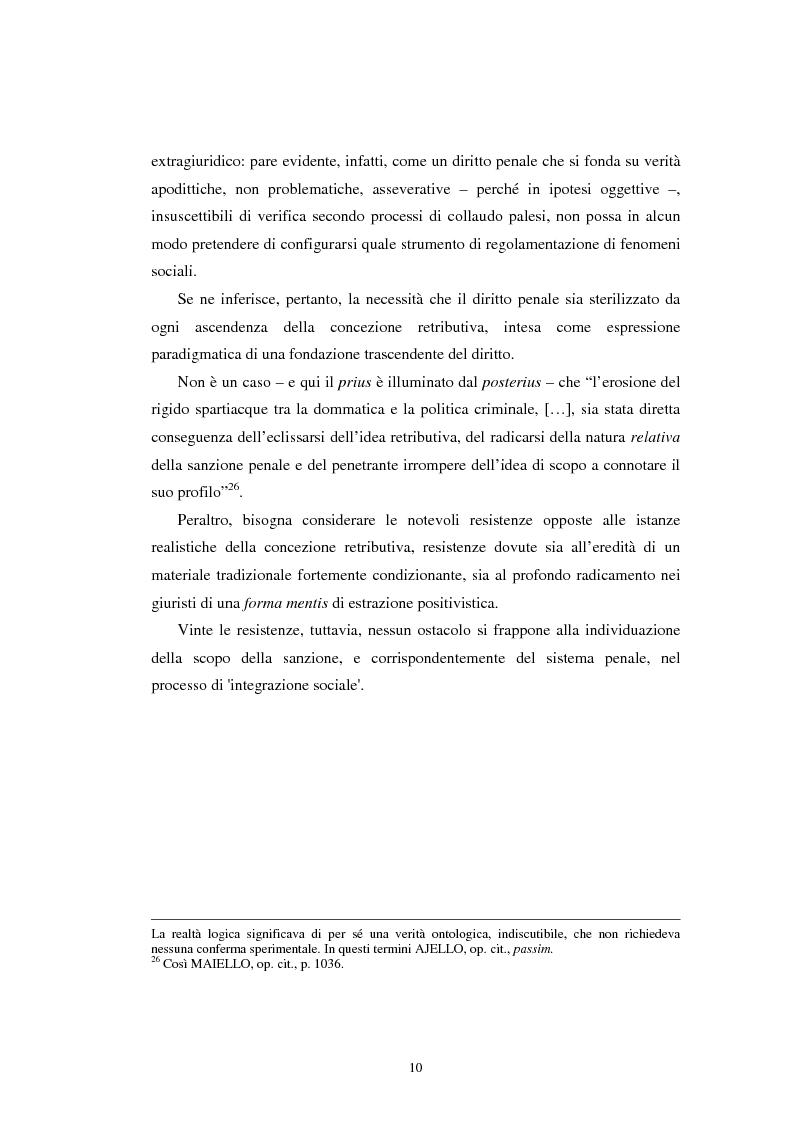 Anteprima della tesi: Istituti clemenziali in diritto penale: profili di legittimità costituzionale e di politica criminale, Pagina 15