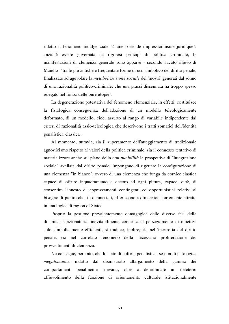 Anteprima della tesi: Istituti clemenziali in diritto penale: profili di legittimità costituzionale e di politica criminale, Pagina 2
