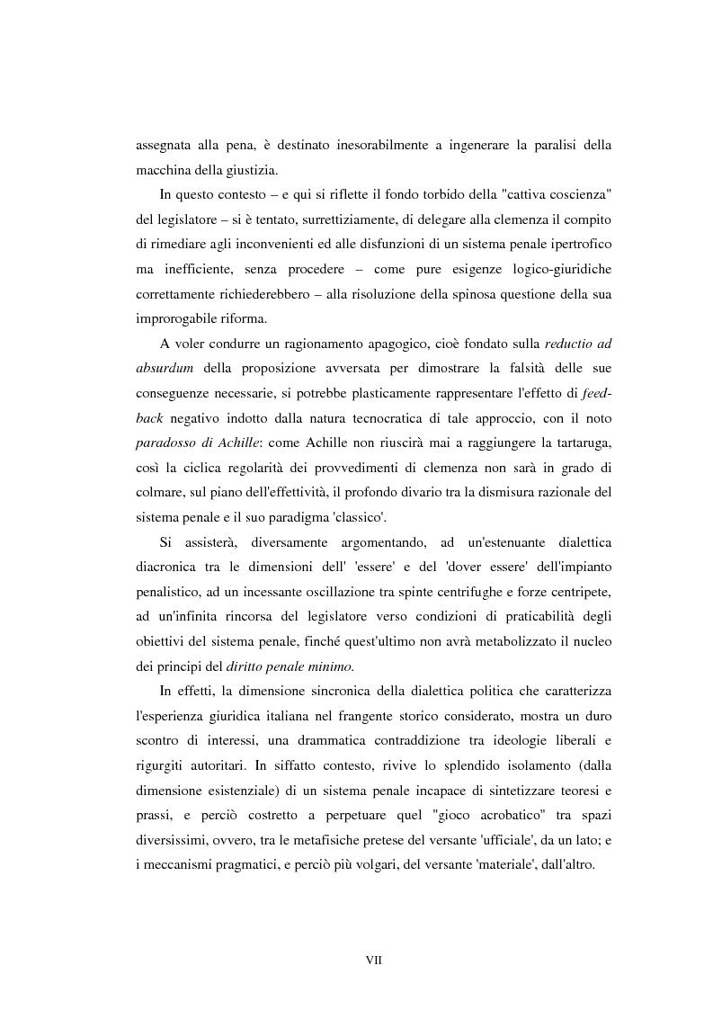 Anteprima della tesi: Istituti clemenziali in diritto penale: profili di legittimità costituzionale e di politica criminale, Pagina 3