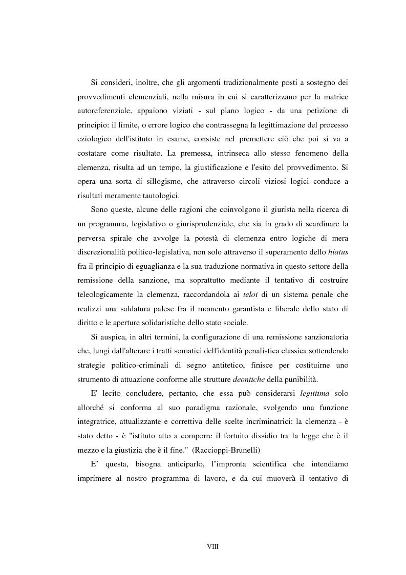 Anteprima della tesi: Istituti clemenziali in diritto penale: profili di legittimità costituzionale e di politica criminale, Pagina 4