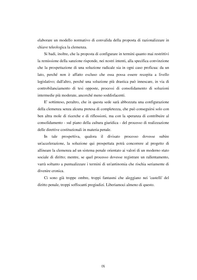 Anteprima della tesi: Istituti clemenziali in diritto penale: profili di legittimità costituzionale e di politica criminale, Pagina 5