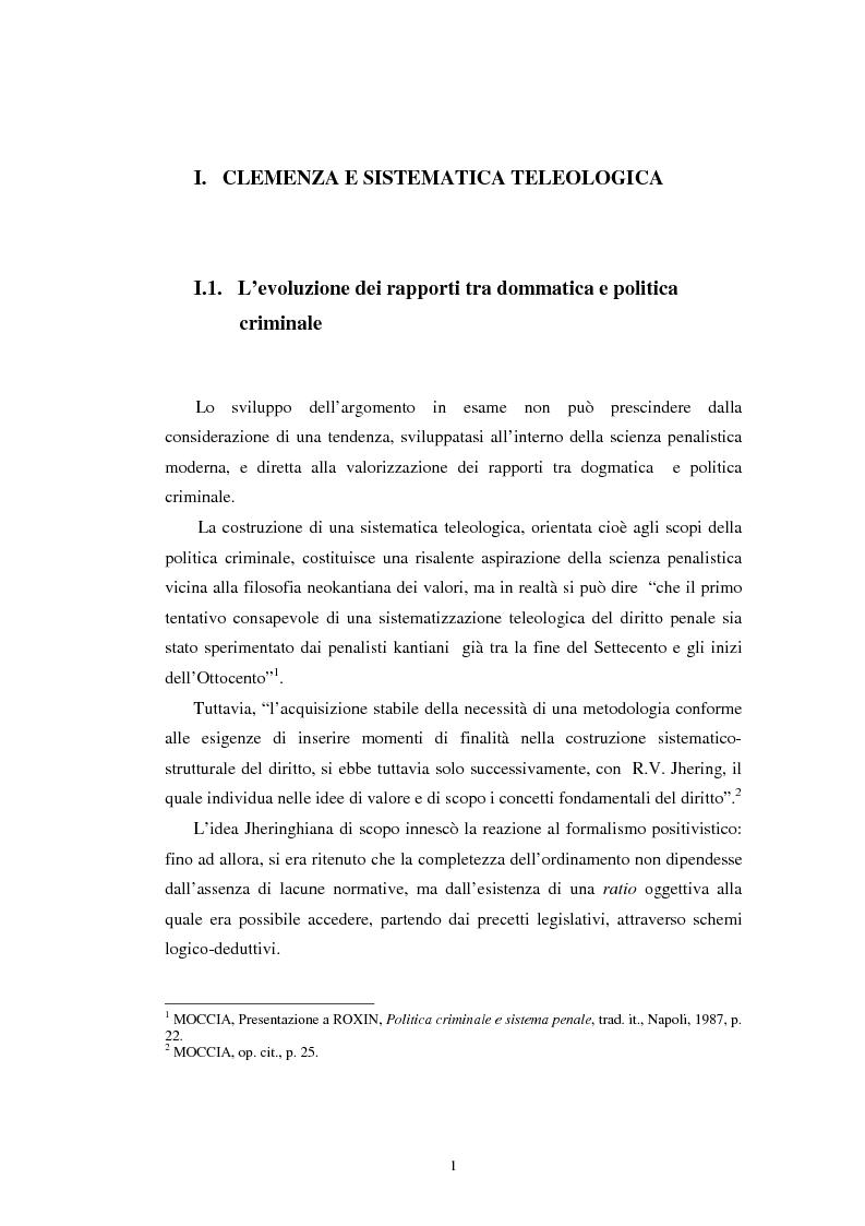 Anteprima della tesi: Istituti clemenziali in diritto penale: profili di legittimità costituzionale e di politica criminale, Pagina 6