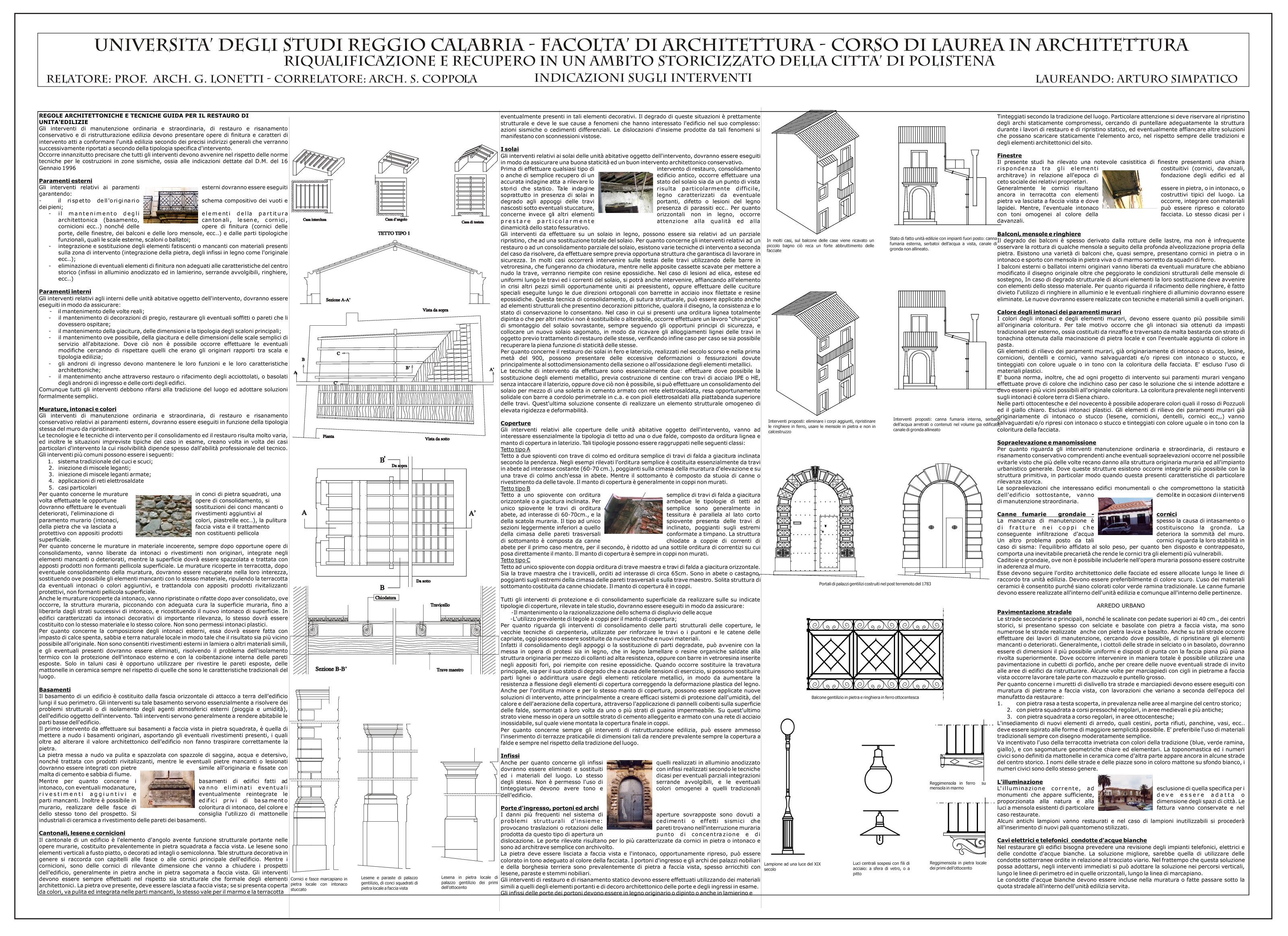 Anteprima della tesi: Riqualificazione e recupero in un ambito storicizzato della Città di Polistena, Pagina 1