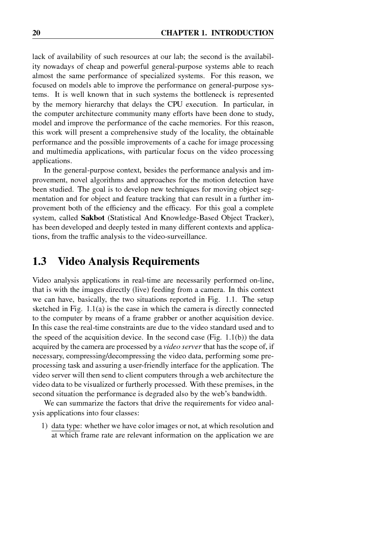 Anteprima della tesi: Models, Algorithms and Architectures for Video Analysis in Real-time, Pagina 5