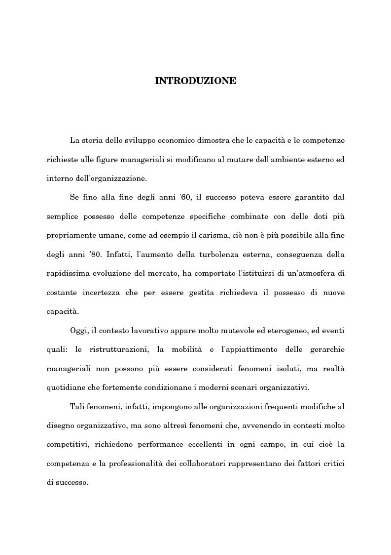 Anteprima della tesi: Il ruolo del capo intermedio oggi, Pagina 1