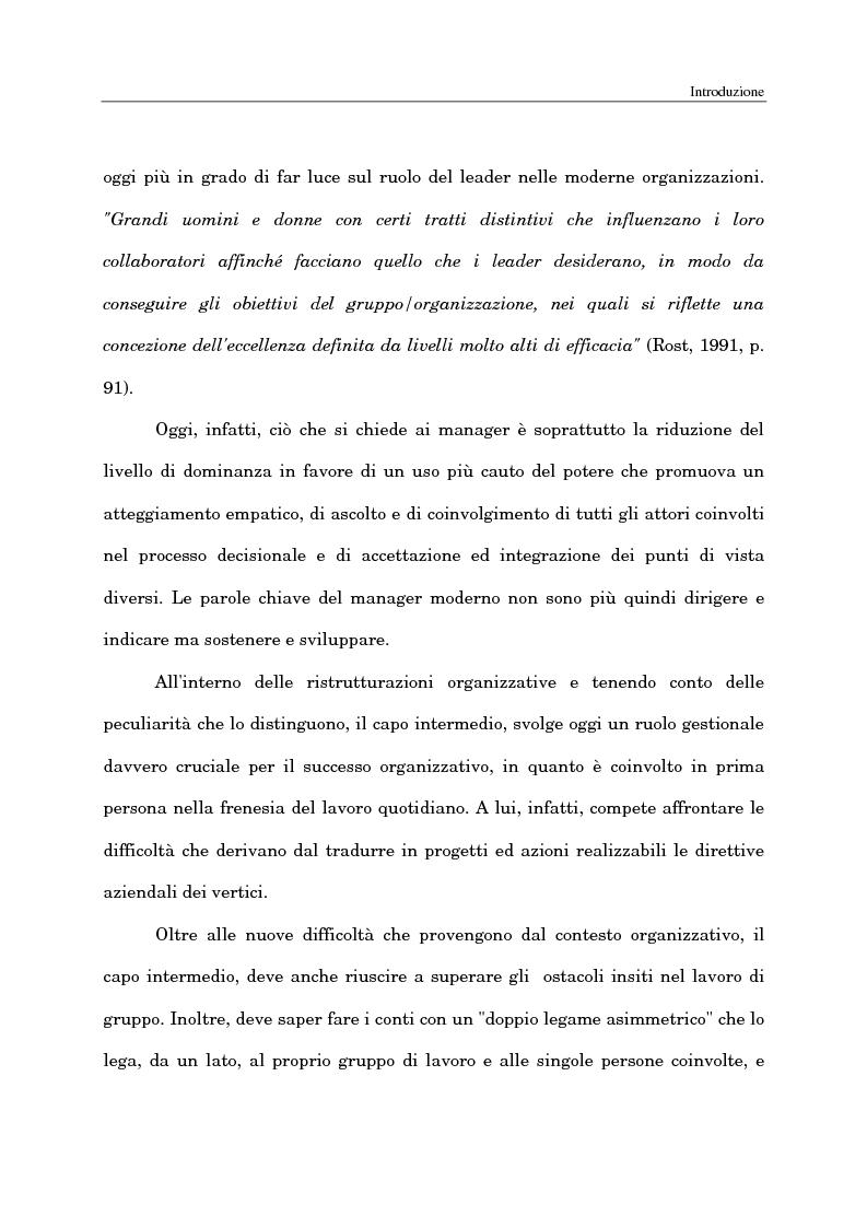 Anteprima della tesi: Il ruolo del capo intermedio oggi, Pagina 3