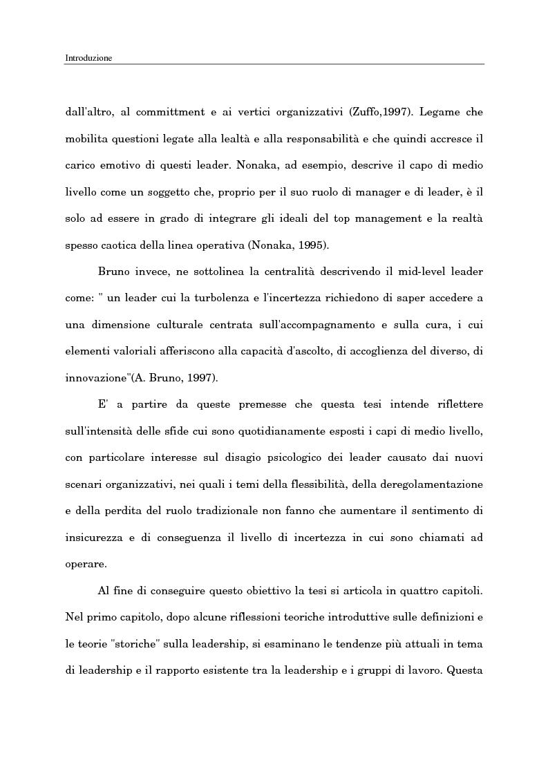 Anteprima della tesi: Il ruolo del capo intermedio oggi, Pagina 4