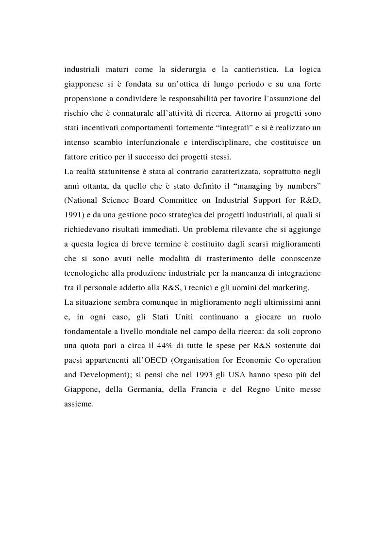 Anteprima della tesi: La ricerca e sviluppo industriale: situazione negli Stati Uniti, Pagina 3