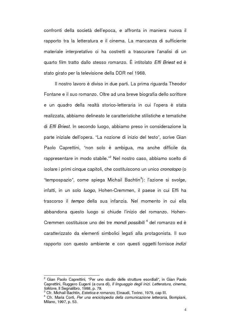 Anteprima della tesi: Letteratura e cinema in Germania. Effi Briest di Theodor Fontane e le sue trasposizioni cinematografiche, Pagina 2