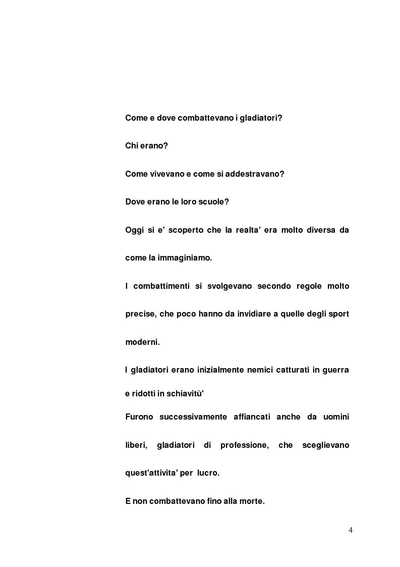 Anteprima della tesi: I gladiatori, Pagina 2