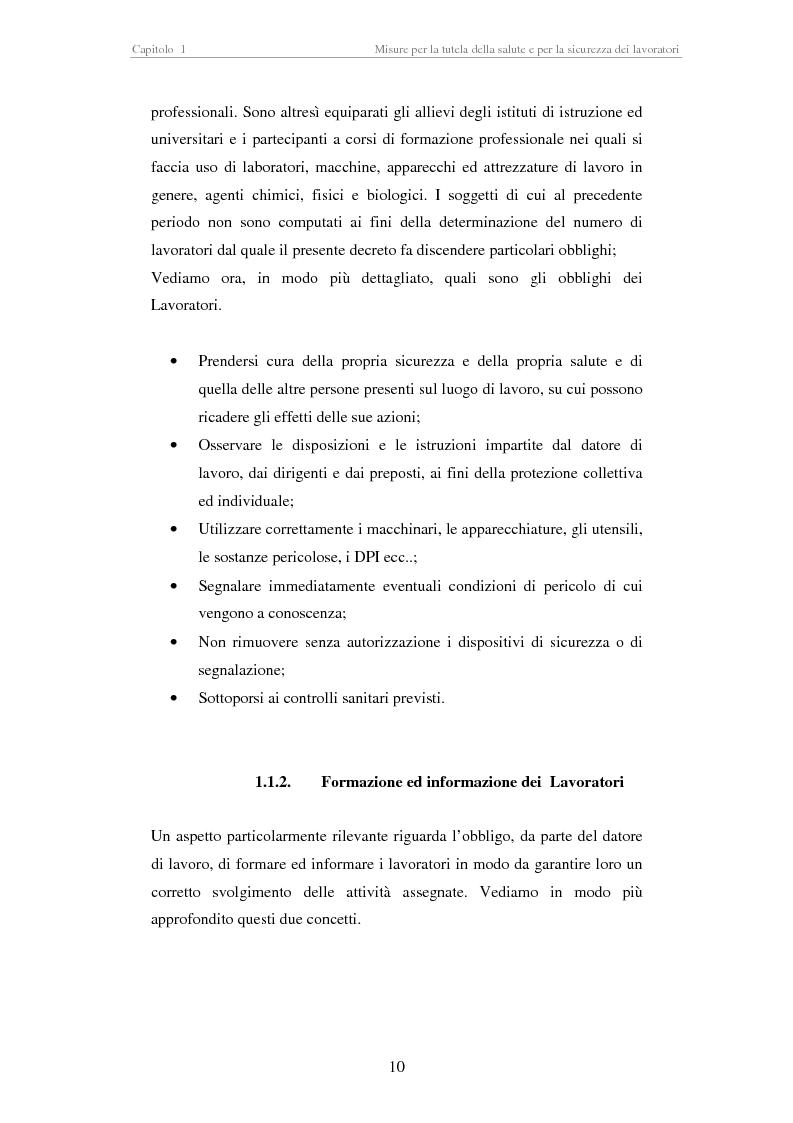 Anteprima della tesi: Stesura di procedure di lavoro per i laboratori di didattica e ricerca scientifica, Pagina 10