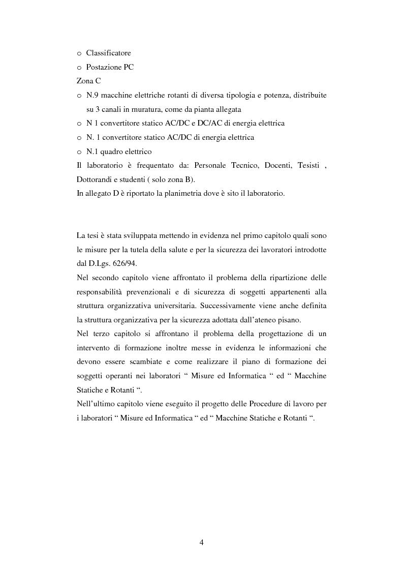 Anteprima della tesi: Stesura di procedure di lavoro per i laboratori di didattica e ricerca scientifica, Pagina 4