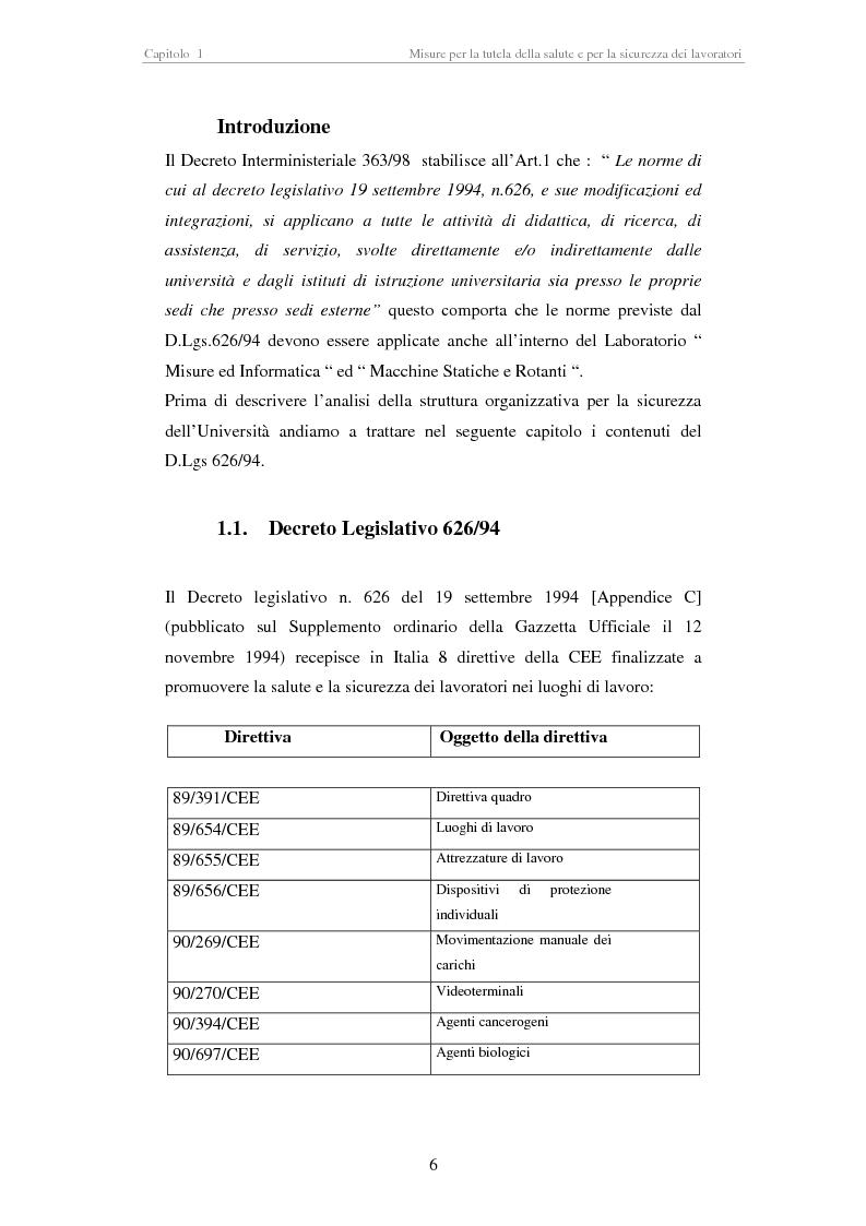 Anteprima della tesi: Stesura di procedure di lavoro per i laboratori di didattica e ricerca scientifica, Pagina 6